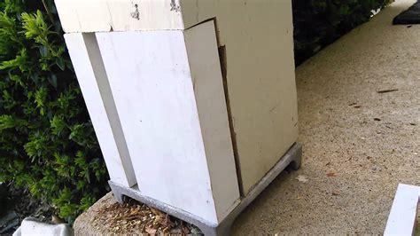 repairing  rotten porch post youtube