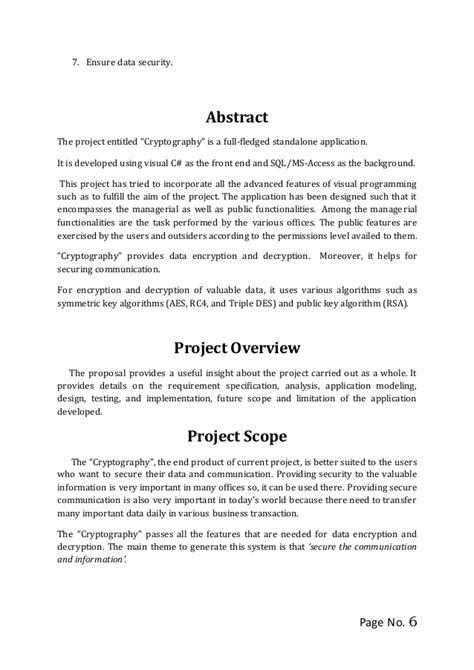 project proposal module