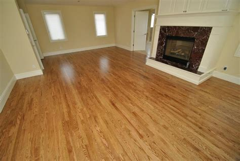 stained red oak floors