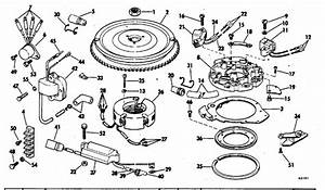 Evinrude Magneto Parts For 1978 35hp 35852r Outboard Motor