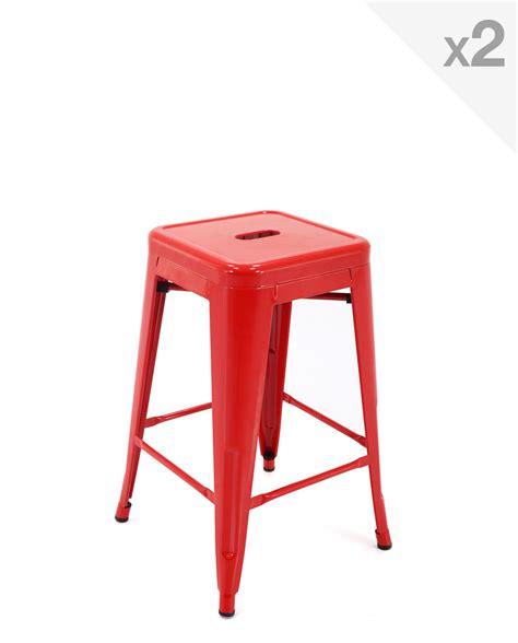 fauteuil de bureau racing tabouret industriel en métal 61cm lot de 2 clyde