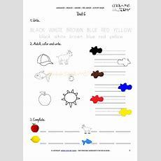 Free Printable Beginner Esl Prejunior Worksheet 6 Colors