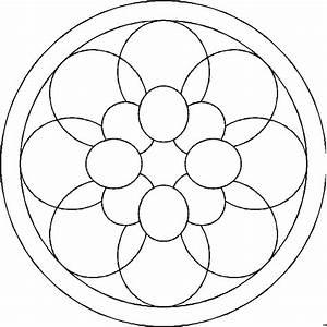 Malvorlage, Mandala, Einfach