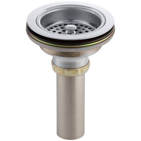 kitchen sink strainer nut stuck duostrainer 4 1 2 in sink strainer with tailpiece in