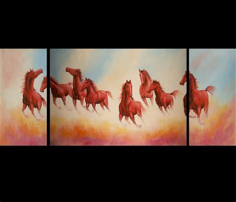 Feng Shui Horse Painting Modern Wall Art Decor
