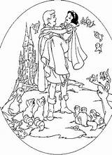 Snow Coloring Pages Prince Princess Disney Printable Dwarfs Seven Caspian Colouring Printables Princesses Sheets Popular 1937 Clipart Getdrawings Drawing Getcolorings sketch template