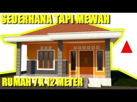 desain rumah minimalis modern  lahan   meter  kamar