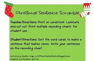 Differentiation Station  Free Christmas Sentence Scramble