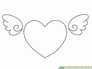 4 Ways to Draw a Heart with Wings - wikiHow