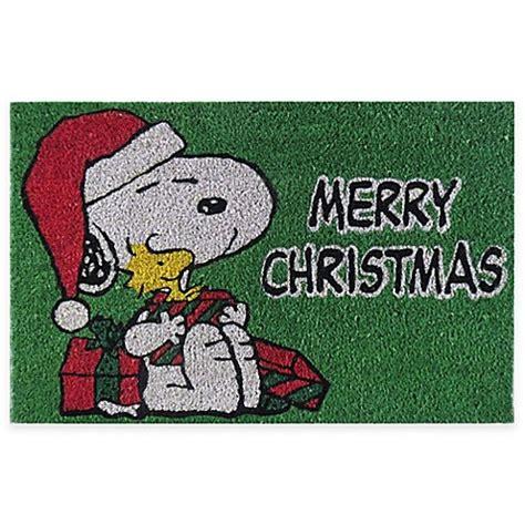 Merry Doormat by Peanuts 174 Snoopy Quot Merry Quot 18 Inch X 28 Inch Door