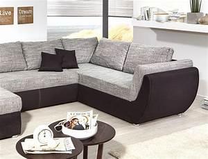 U Form Sofa : wohnlandschaft ontario 326x231 cm mikrofaser grau schwarz sofa u form kaufen bei vbbv gmbh ~ Buech-reservation.com Haus und Dekorationen