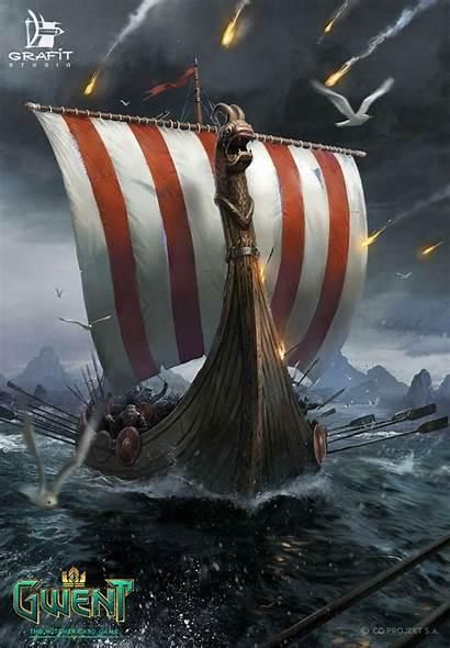 Drakkar War Skellige Viking Witcher Tattoo Vikings