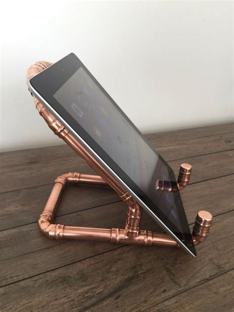 handmade copper pipe ipad stand book stand tablet holder photo holder ebay