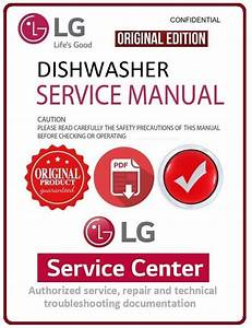 Lg D1453wf Dishwasher Service Manual And Troubleshooting