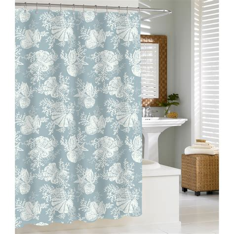 seashell shower curtain bathroom set kassatex shells shower curtain at hayneedle