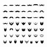 Sideburns Vector Beard Mustache Goatee Clip Lambchop Illustrations Simple Icons Graphics sketch template