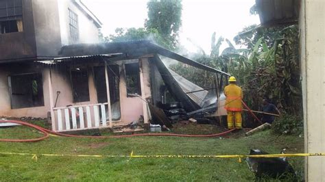 pomme rose family loses   house fire  grenada