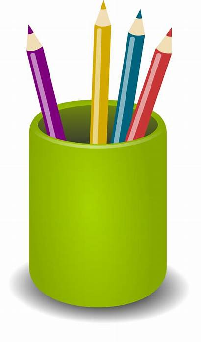 Clip Pencil Animated Cliparts Pencils Pen Holder
