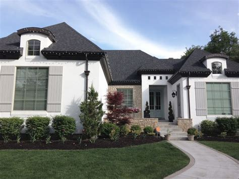 exterior paint colors for white roof finally a picture of a white house gray shutters black roof and blue gray door decor