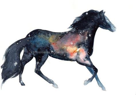 stunning watercolor galaxy animals  threeleaves