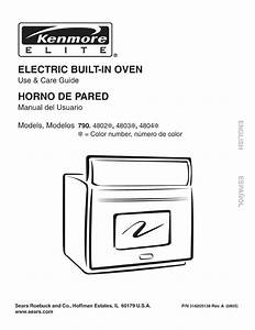 Kenmore Oven 790 4804 User Guide