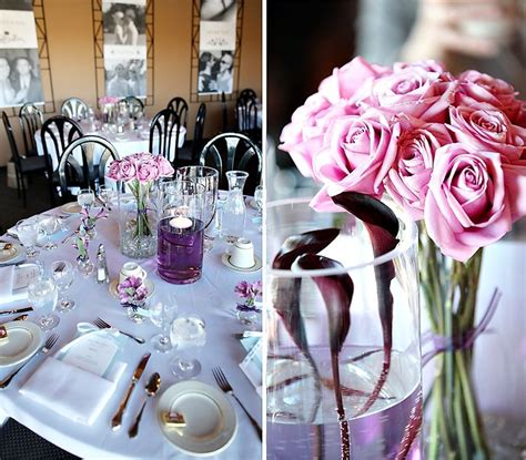 purple wedding ideas for tables photos of a recent