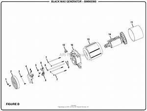 Homelite Bm903500 3500 Watt Generator Mfg  No  090930202 Parts Diagram For Figure D