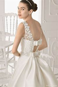 aire barcelona 2014 bridal collection lace wedding With wedding dress with bow in back