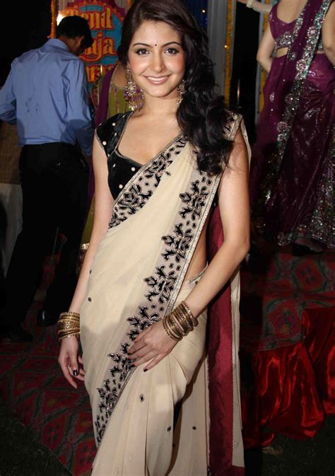 Anushka Sharma in saree   sareesmania