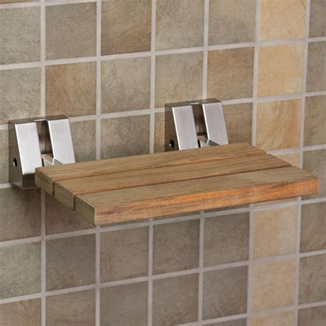 Wall Mount Teak Folding Shower Seat   Wall mount, Teak and
