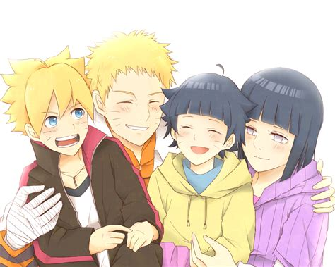 Boruto, Naruto, Himawari And