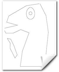 fortnite llama head template fortnite  flow gif