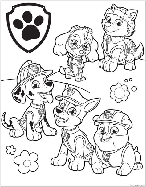 Free Printable Coloring Books Paw Patrol Creative Art