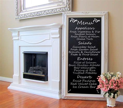 tall wedding chalkboard standing chalkboard attached stand