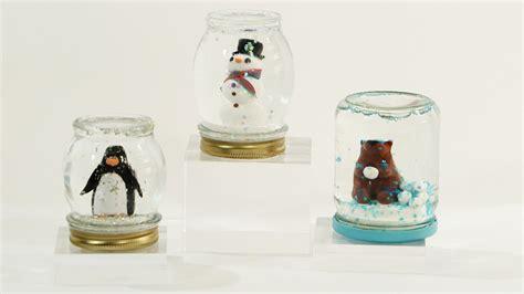 diy snow globe diy jar snow globes martha stewart