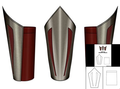 gauntlet template template for sif gauntlets the foam cave