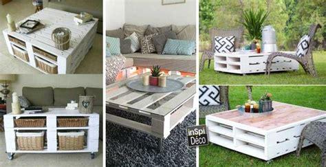 table bar cuisine but tables basses en bois de palettes très originales 20