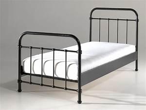 Betten 90 X 200 : metallbett new york liegefl che 90 x 200 cm schwarz kinder jugendzimmer betten ~ Bigdaddyawards.com Haus und Dekorationen