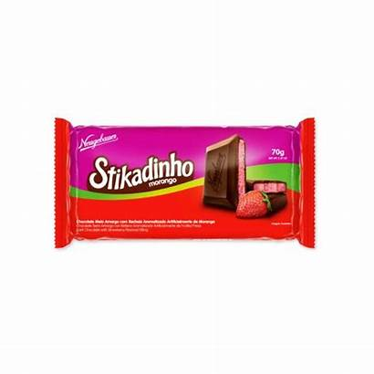 Neugebauer Stikadinho Morango Barra Chocolate 70g 12un