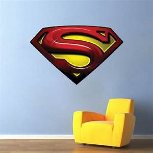 superman decal mural super heroes wall decals primedecals With superman wall decal