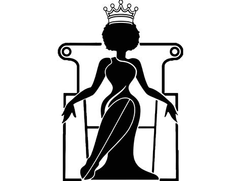 Polish your personal project or design with these afro transparent png images, make it even more personalized and more. Queen Silhouette Vector at GetDrawings | Free download
