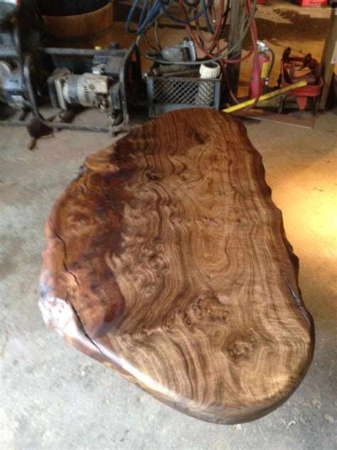 black walnut burl coffee table   turned