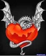 Pics Photos - Dragon Heart Drawings How To Draw A Dragon Heart  Dragons And Hearts Drawings