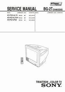 Sony Kv-pg14l70 Service Manual