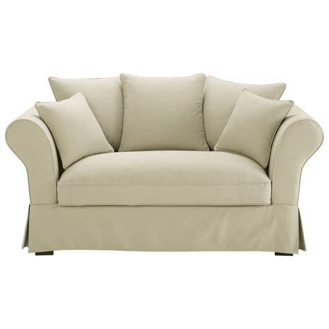 canapé roma maison du monde 2 3 seater cotton sofa in putty roma maisons du monde