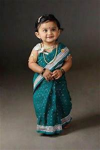 cute ethnic lover baby in a saree | Indian Kid Photography ...