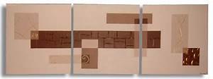 Peinture Beige Doré : peintures acryliques tableau contemporain marron taupe ~ Zukunftsfamilie.com Idées de Décoration