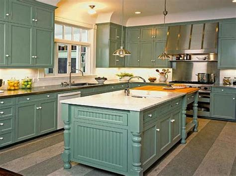 great painted kitchen cabinets brick subway tile