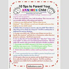 """""""spindoctor Parenting"""" 10 Tips To Parent Your Anxious Child"""