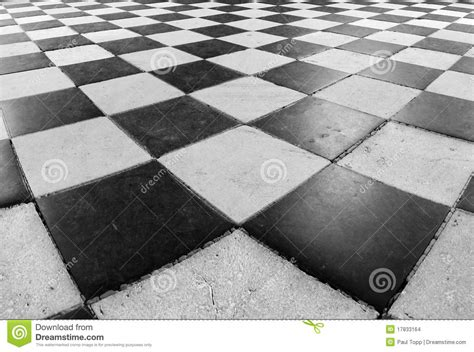 black and white checker floor tile pattern stock photo